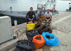Συνεχίζει το Λιμεναρχείο Τήνου την προσπάθεια καθαριότητας του θαλάσσιου περιβάλλοντος