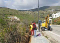 Τήνος: Ξεκίνησε η επισκευή του ηλεκτροφωτισμού στον Περιφερειακό